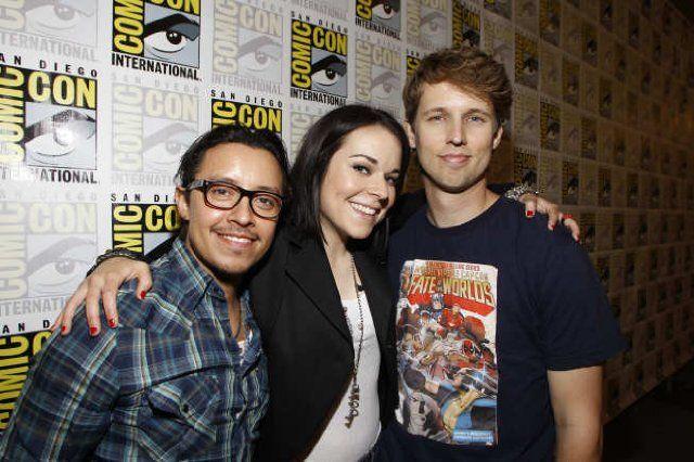 Napoleon Dynamite Cast:  Efren Ramirez, Tina Majorino, and Jon Heder (22 July 2011)
