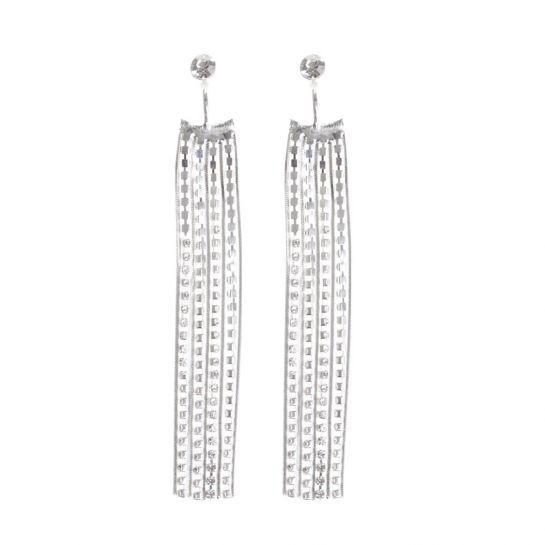 Diamante Strand Jacket Earrings