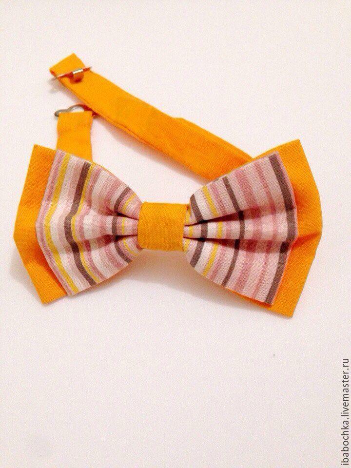 Купить Галстук бабочка iStriped - комбинированный, в полоску, галстук бабочка, бабочка, женская бабочка