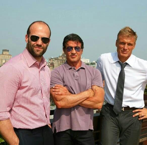 Jason Statham, Sylvester Stallone and Dolph Lundgren reunite for Expendables 3.