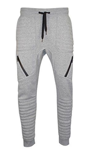 Men Hip Hop Quilted Dance Fleece Jogger Pants