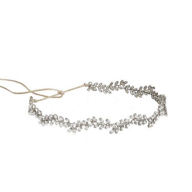 Jennifer Behr Silver-Tone Swarovski Crystal Headband