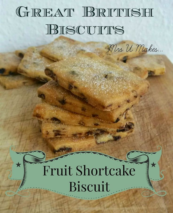 Mrs U Makes... The first #recipe in the Great British Biscuits collection are these delicious Fruit Shortcake Biscuits