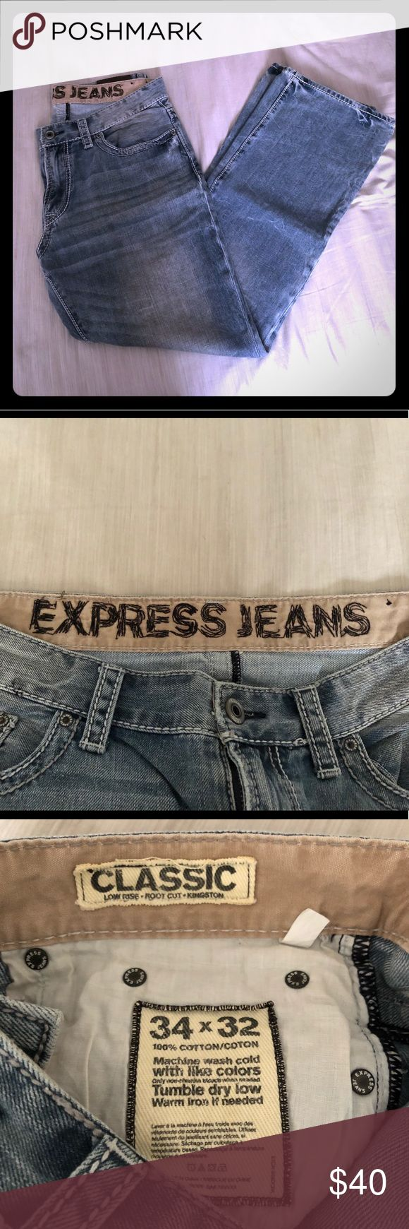EXPRESS men's jeans EXPRESS men's jeans; 34x32 Classic Kingston Express Jeans Bootcut