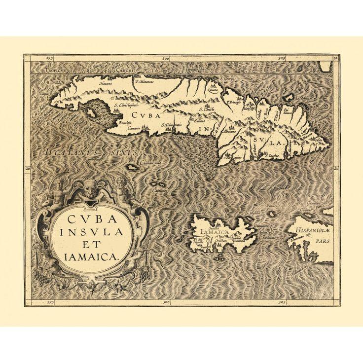 Cuba and Jamaica - vintage wall map. Map art for wall decoration. Handmade paper print. #map, #antiquemap, #vintagemap, #oldmap #historicalmap, #mapreproduction #mapreproductions #oldmaps, #vintagemaps, #antiquemaps, #historicalmaps #handmadepaper #maps,#cuba, #jamaica  #caribbean, #mapdecor, #traveldecor #walldecor, #mapgifts