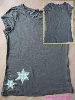 Sidis kunterbunter Blog: Shirt aufpeppen...