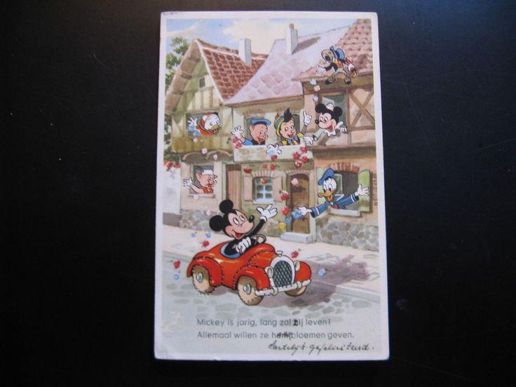 Old Vintage Walt Disney Color Postcard Mickey Mouse...1958!