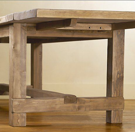 """Copy the Farmhouse extension table plans from Restoration Hardware (72"""" Table: 72""""L x 41""""W x 31""""H; extends to 102""""L with two 15"""" leaves)"""