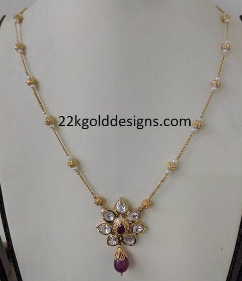 Fancy Gold Necklace in 10grams