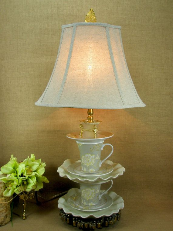 Grace Teacup Lamp By Paulagracedesigns On Etsy 225 00