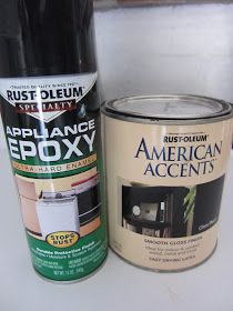 Frugal Ain't Cheap: Painting appliances black