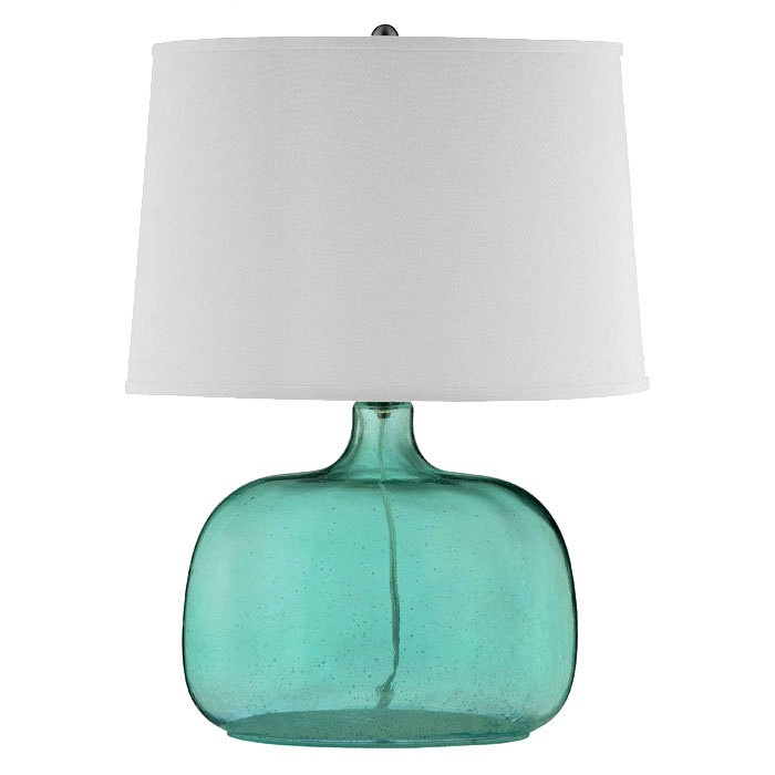 Teal Gl Table Lamp