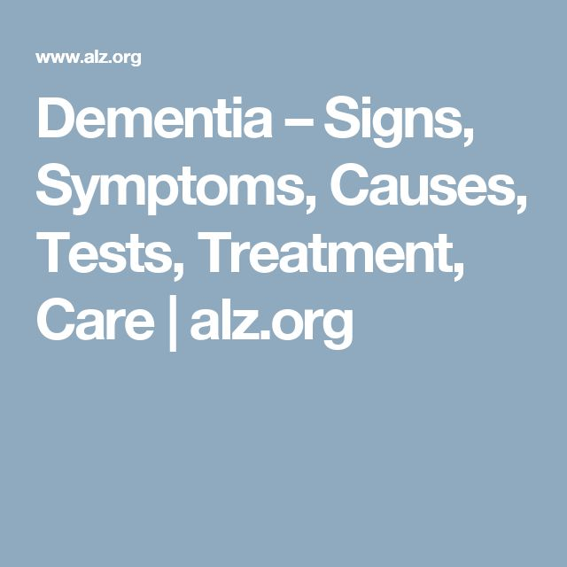 What are some signs of dementia in women?