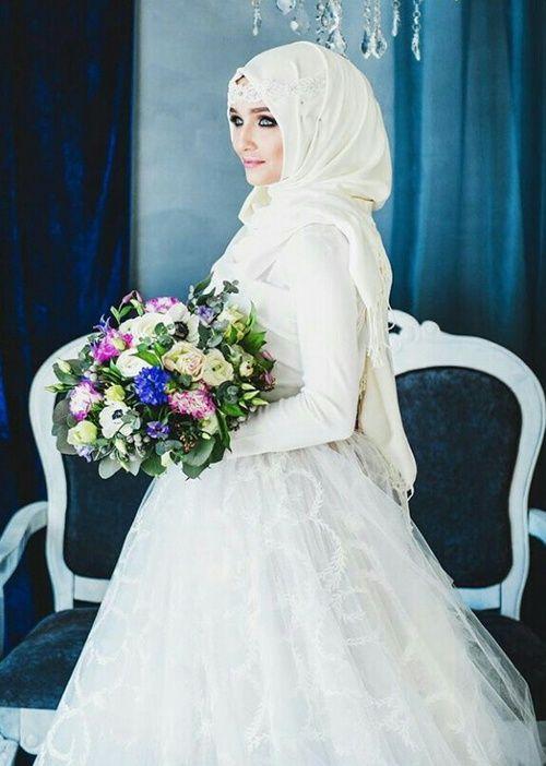 Hijab, vestido para boda musulmana Vestidos de Novia