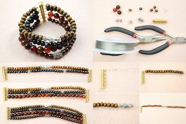 cheap wholesale accessories DIY Men  s Beaded Bracelet  a Special Gift for Your Father