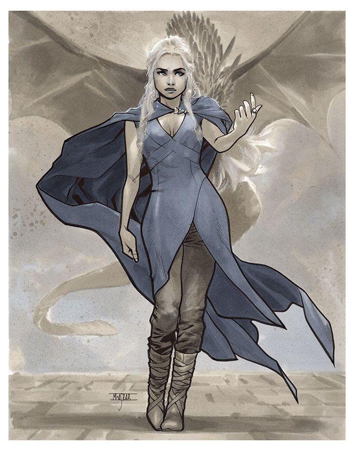 Daenerys Targaryen - Aviles 2015 Pre-Show Commission by Mahmud Asrar