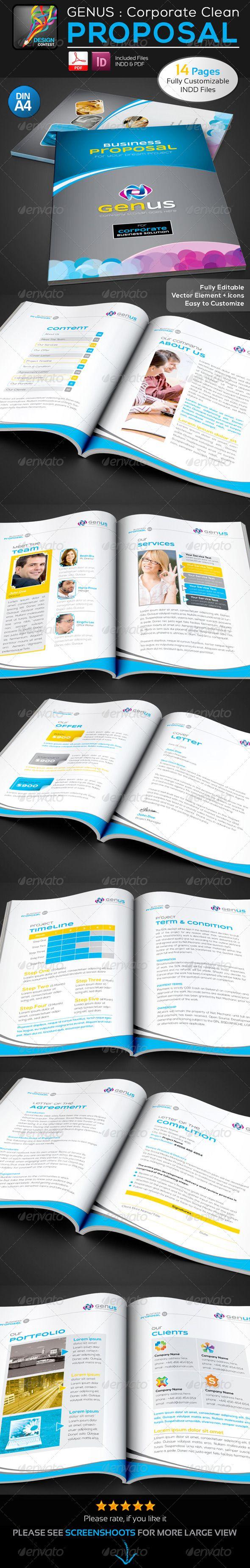 GENUS Corporate Clean Creative Business Proposal