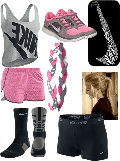 cute sporty outfit..I need this for soccer and softball, but in bright yellow, blue or green