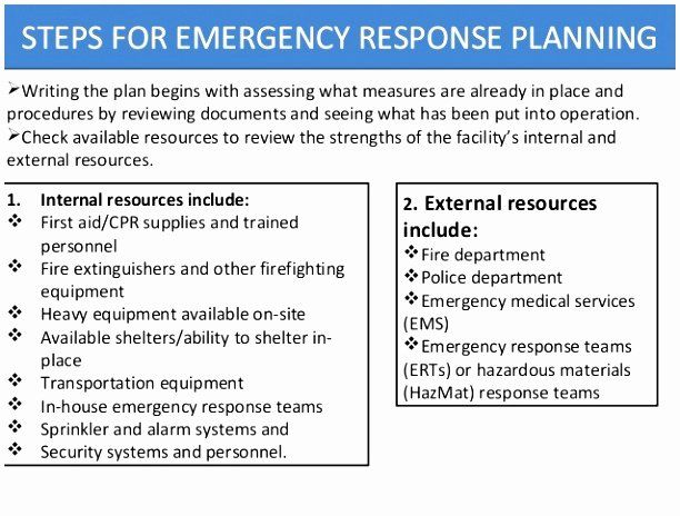 Osha Emergency Action Plan Template Unique 10 Emergency Response Plan Template Osha Rppa Emergency Response Plan Emergency Preparedness Plan Emergency Response