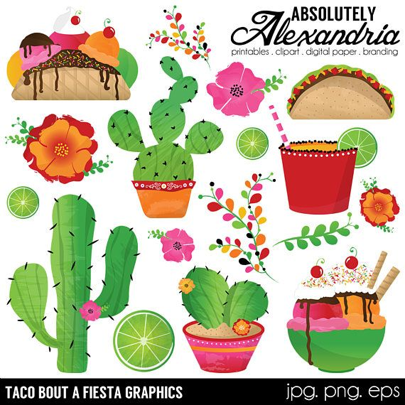 MATCHING PAPERS>>> https://www.etsy.com/listing/515495354/taco-bout-a-fiesta-digital-papers  Taco Bout a Fiesta Clipart Package  WHATS INCLUDED: *All of the designs shown in the preview for a total of 12 different designs.  IMAGE SIZE: *Graphics are 12 inches at their widest or