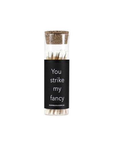 You Strike My Fancy - Glass Vial Matches from DAMSELFLY