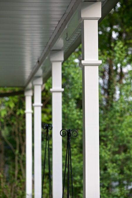Pretty Porch Posts Quot Finally We Settled On Using Wooden 4