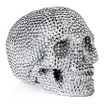 Give your home an edgy look with some serious pizzazz, decorating it with this fully glam metallic skull.  Sold exclusively at Z Gallerie.