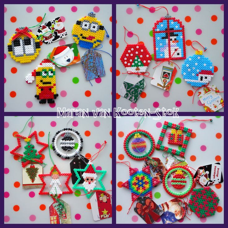 Christmas ornaments from Hama perler beads, all these patterns you can find on my board Hama Beads. I made tags from the cards I received last year. My christmas cards are ready, still a few to go....