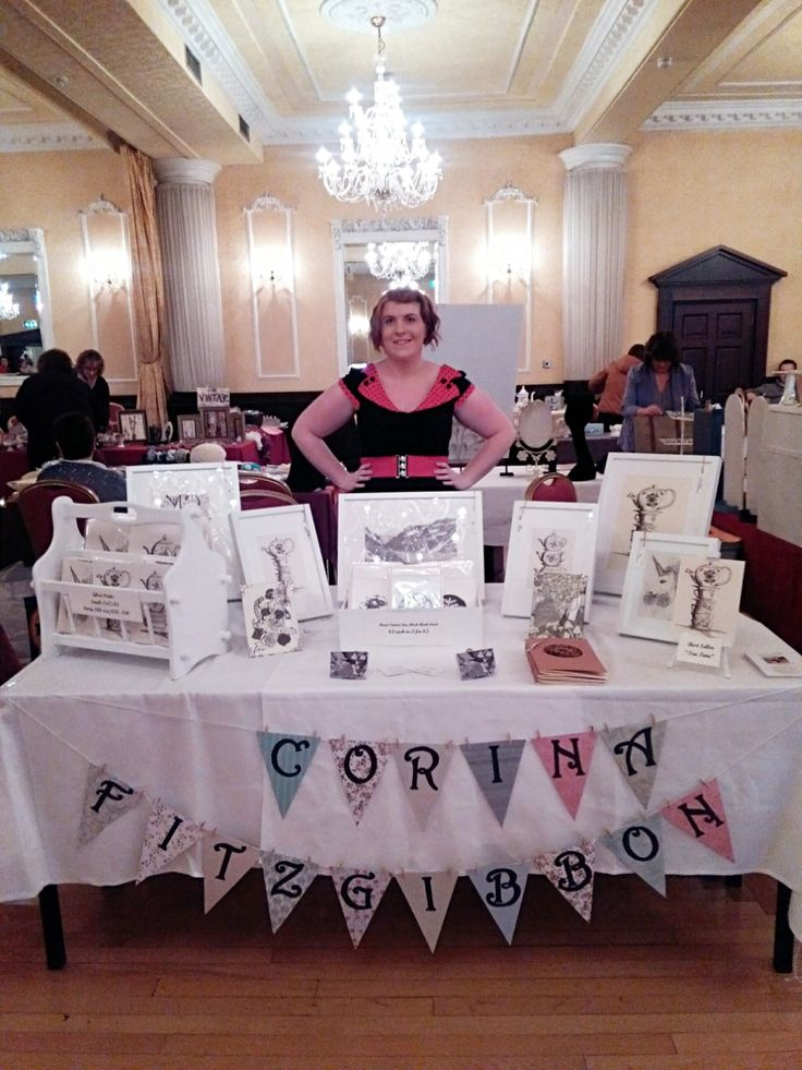 My display for the Vintage Fayre. Find me on Instagram and Facebook to see more of my work! @CorinaFitzgibbonArt https://www.facebook.com/corinafitzgibbonart  CorinaFitzgibbonArt© All Rights Reserved.