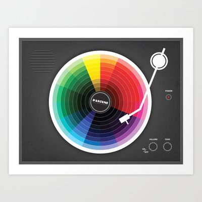 Pantune - The Color of Sound Art Print by Davies Babies - $21.99
