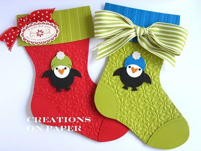 Creations on Paper: Christmas Stocking- Penguin