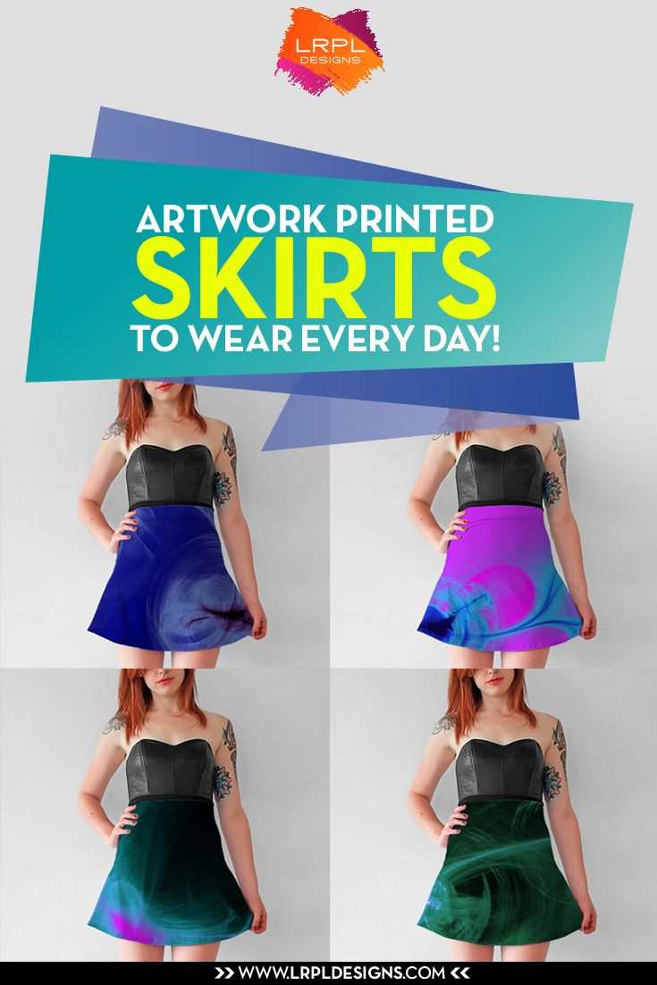 You'll have a hard time choosing just one print with our designer artwork printed flare skirts! These playful flared skirts fall above the knee, making them the perfect choice for any occasion - school, work, or a night out on the town! Mix and match tanks, crop tops, tees, and cardigans to create several outfits from one unique piece! Made from our signature knit fabric, these beautiful artwork printed skirts will never fade or lose shape, ensuring they last wear after wear!