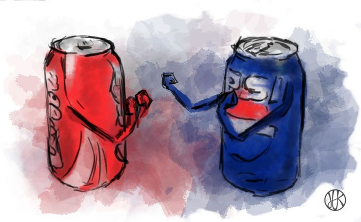 Drawing Coca-cola vs Pepsi #duel #fight #cocacola #pepsi