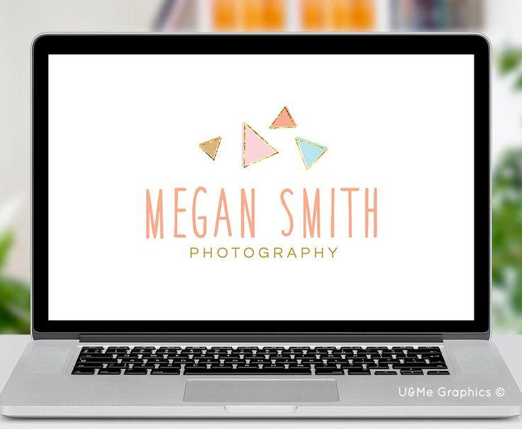 Triangle photography premade logo, premade photography logo, triange premade logo, u&me graphics logos