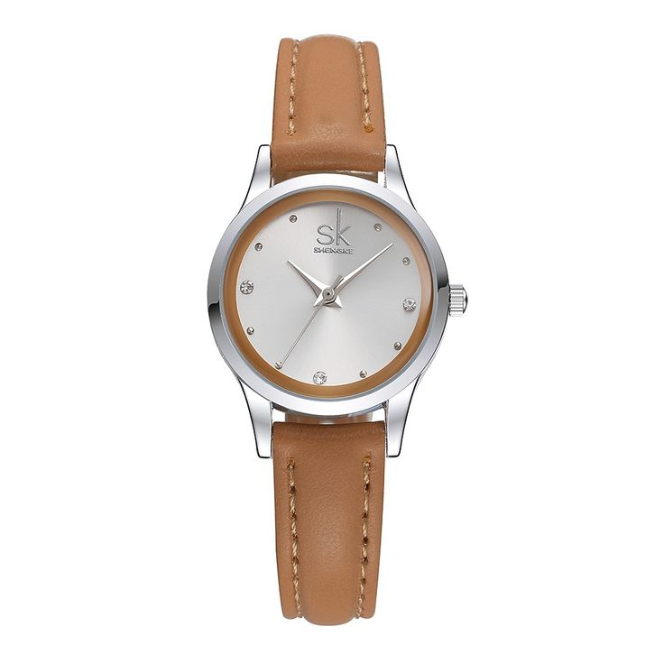 Only US$8.99, coffee SK Brand Luxury Diamond Quartz Women Casual Watches PU Strap - Tomtop.com