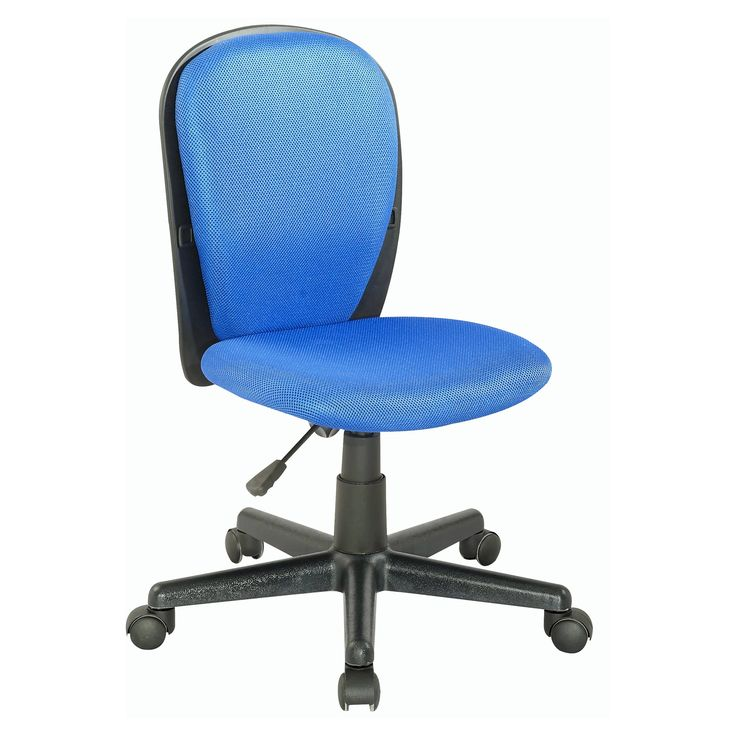 Chintaly Tobin Fabric Back and Seat Youth Desk Chair - 4245-CCH-BLU