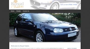 Car valets company website design... See my portfolio: http://bit.ly/MUGhsf