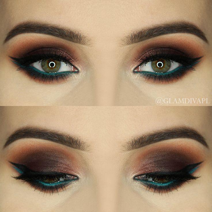 Makeup Geek Brow Brush Duo + Makeup Geek Eyeshadow in Shark Bait + Makeup Geek Gel Liner in Immortal. Look by: GlamDiva.pl
