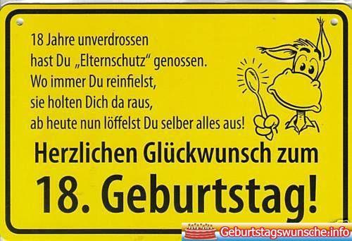 18 Geburtstag Gluckwunsche