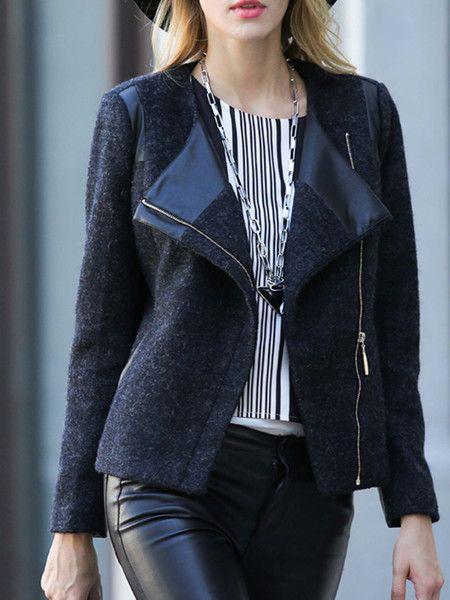 Paneled Wool Short coat