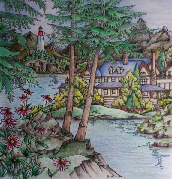 Coloring By Betty Hung Colorartca Come Home To Color