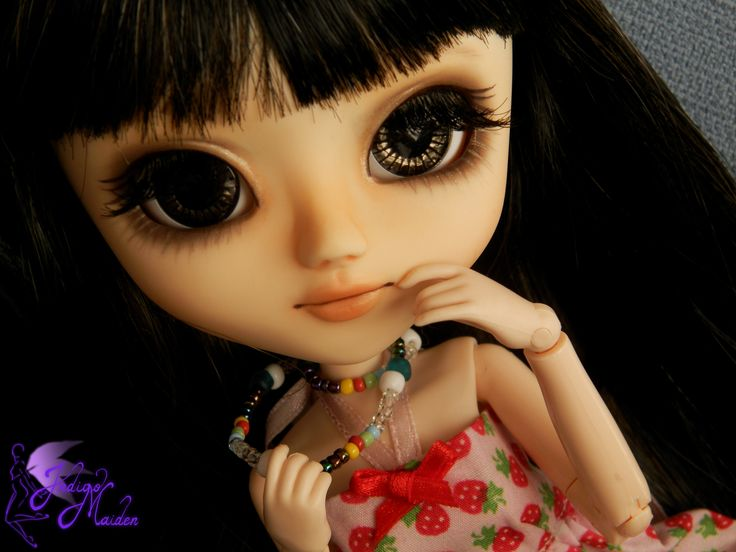 Wish, OOAK pullip, carving and face-up  by Indigo Maiden - make up for dolls