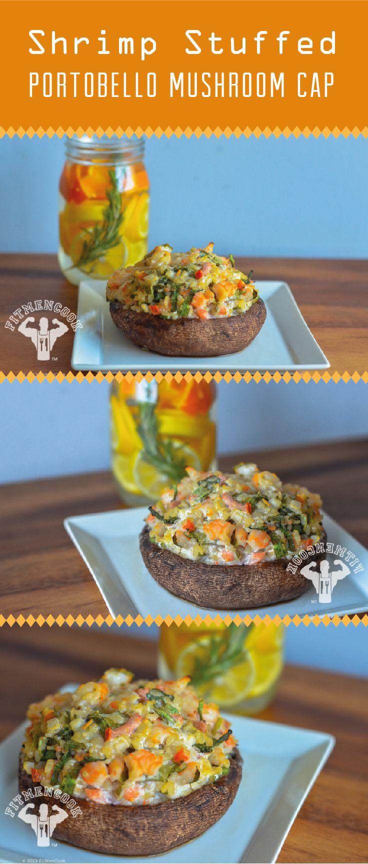 Great dinner ideas, Shrimp stuffed mushrooms and Stuffed shrimp on ...