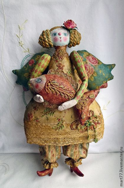 """Коллекционные куклы ручной работы. Ярмарка Мастеров - ручная работа """"Мадам Фиш"""". Handmade."""
