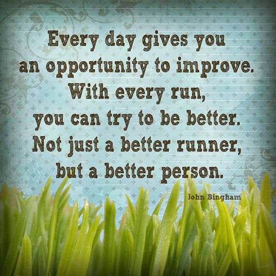 Better - INSPIRATIONAL Art Print - run marathon race runner digital wall decor green grass blue sky spring summer outside garden