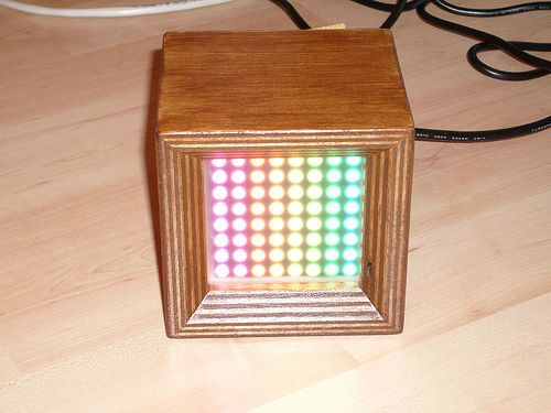 Picture of 64 pixel RGB LED Display - Another Arduino Clone