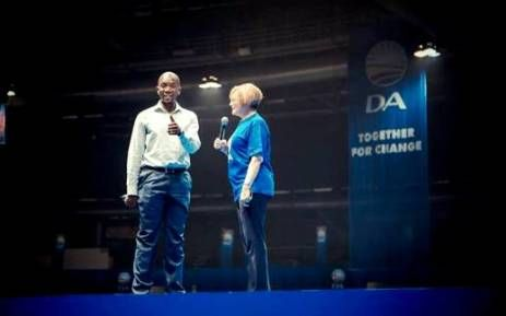 [BREAKING] HELEN ZILLE RESPONDS TO DA SUSPENSION  On Saturday, Helen Zille's successor Mmusi Mmaine announced her suspension from all Democratic Alliance activities pending her disciplinary hearing.  FILE: Mmusi Maimane and Helen Zille working together on a Democratic Alliance campaign.