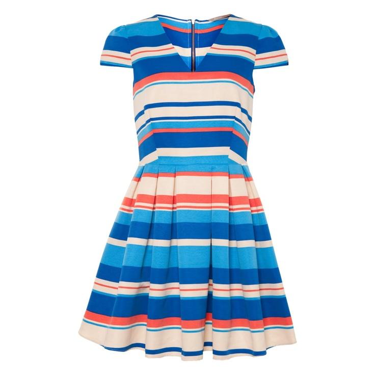 A wear Variegated Stripe Skater Dress