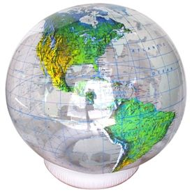 Inflatable globe - We live in coastal Carolina, and we had the 36 inch version of this globe when our kids were young to track hurricanes with a dry erase marker.