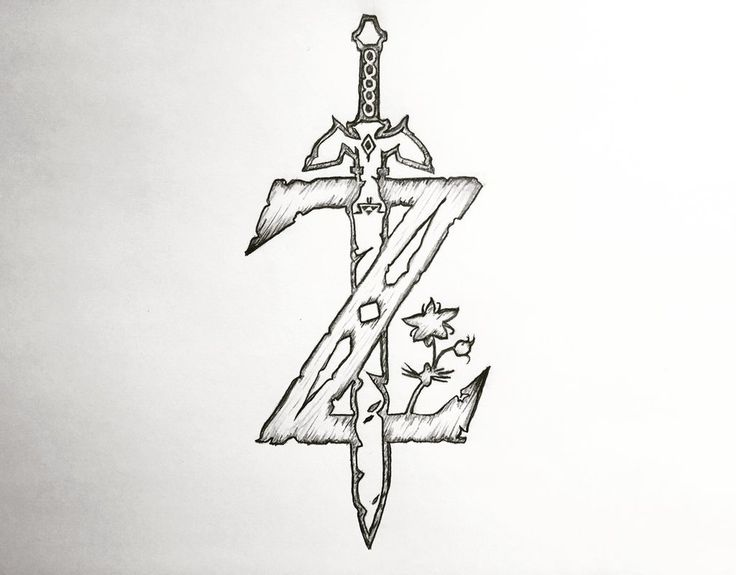 The Legend of Zelda: Breath of the Wild Z-Logo drawing done with prismacolor pencils!